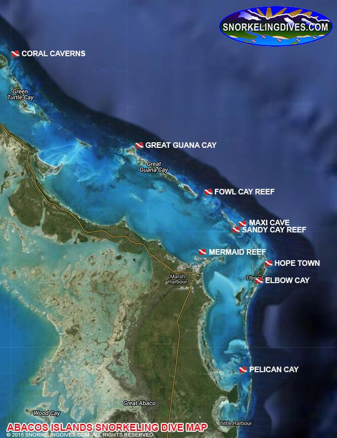 Maxi Cave Snorkeling Map