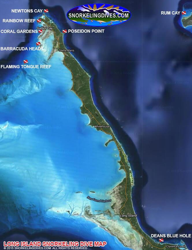 Southhampton Reef Snorkeling Map