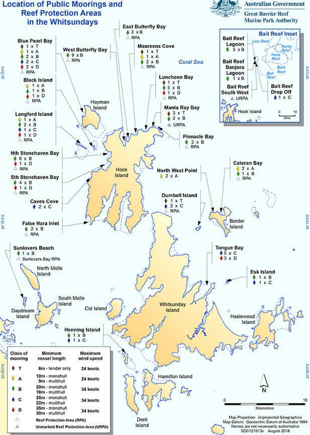 Langford Reef Snorkeling Map