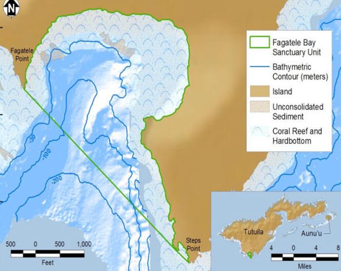 Fagatele Bay Snorkeling Map