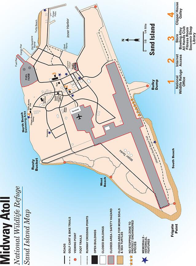 Sand Island Snorkeling Map