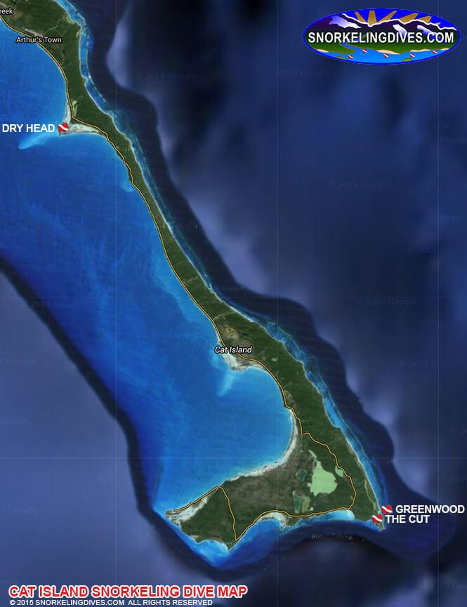 Guana Keys Snorkeling Map