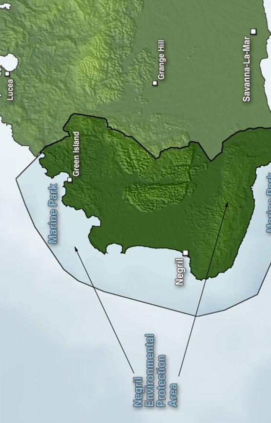 Negril Marine Park Snorkeling Map
