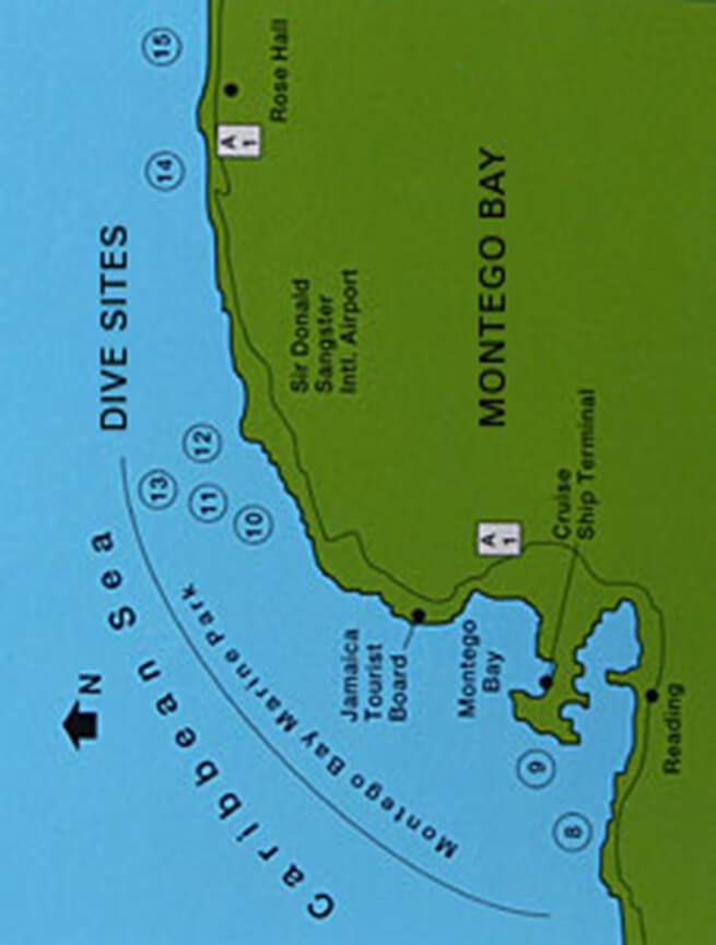Montego Bay Marine Park Snorkeling Map