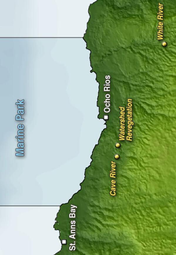Ochos Rios Marine Park Snorkeling Map