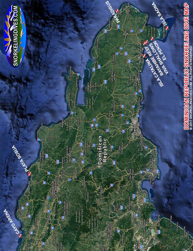 Isla Saona Snorkeling Map