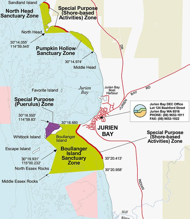 Jurien Bay Marine Park Snorkeling Map
