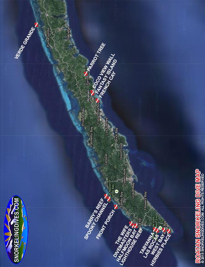 Jumping Jack / Las Rocas Snorkeling Map