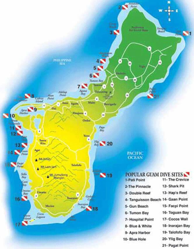 Gun Beach Snorkeling Map