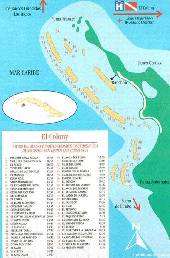 Isla De La Juventud Snorkeling Map