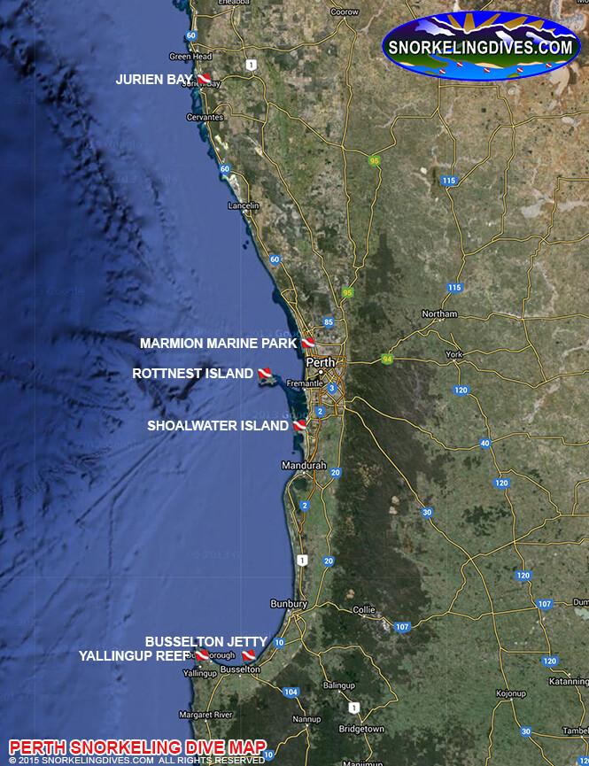 Yallingup Reef Beach Snorkeling Map