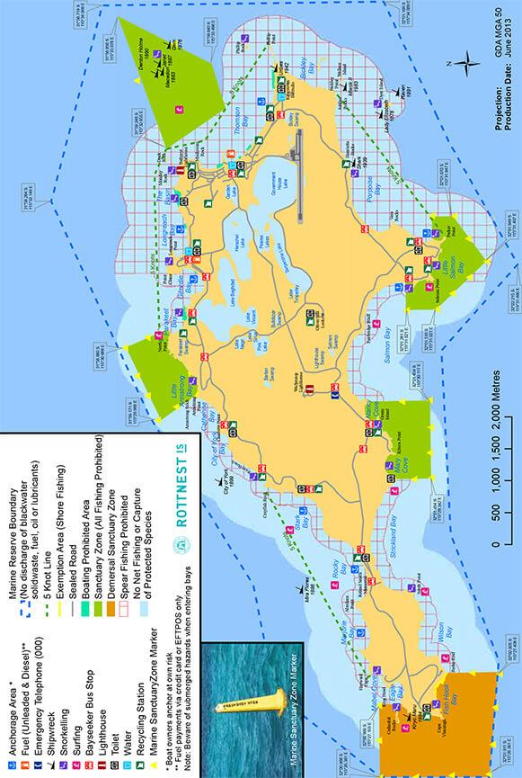 Rottnest Island Snorkeling Map