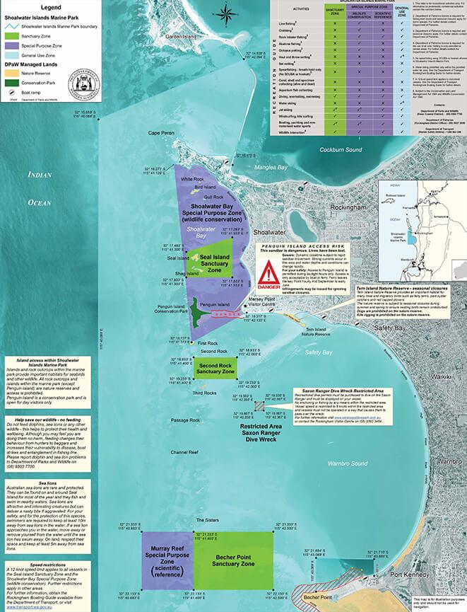 Shoalwater Island Marine Park Snorkeling Map
