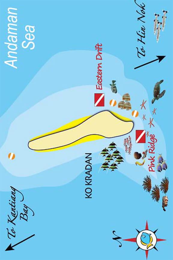 Koh Kradan Snorkeling Map