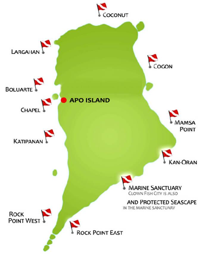 Apo Island Snorkeling Map
