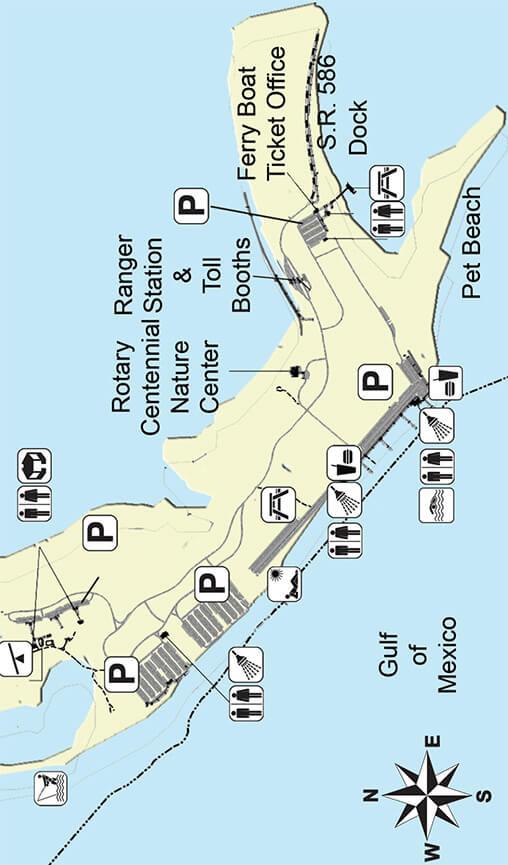 Honeymoon Island State Park Snorkeling Map