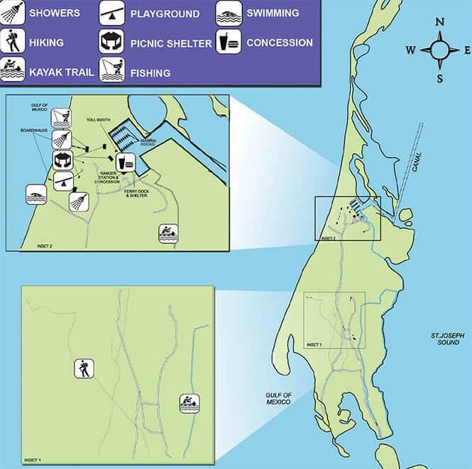 Caladesi Island State Park Snorkeling Map