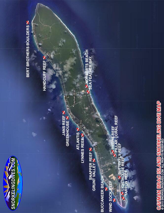 Bert Brothers Boulders Snorkeling Map