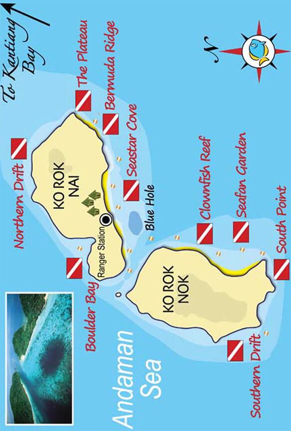 Koh Rok Snorkeling Map