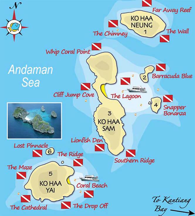 Koh Haa Snorkeling Map