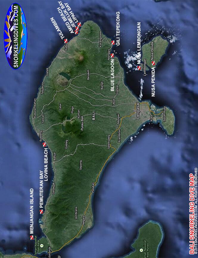Tulamben Snorkeling Map