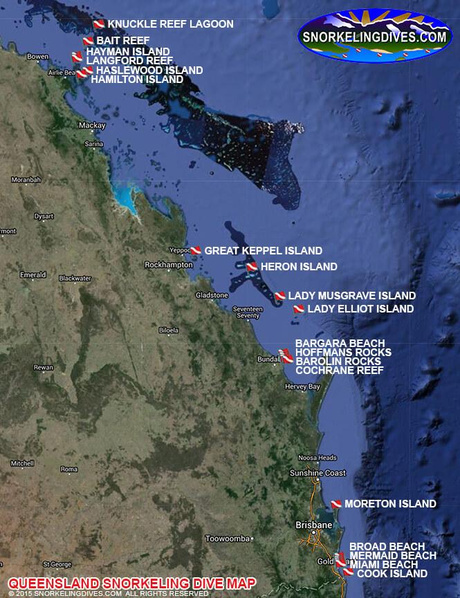 Moreton Island Snorkeling Map