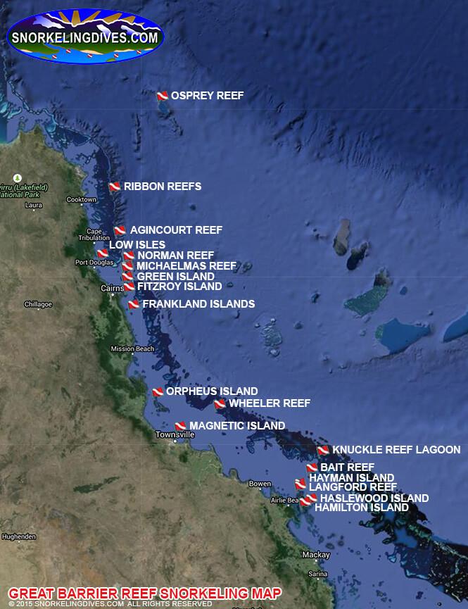 Frankland Islands Snorkeling Map