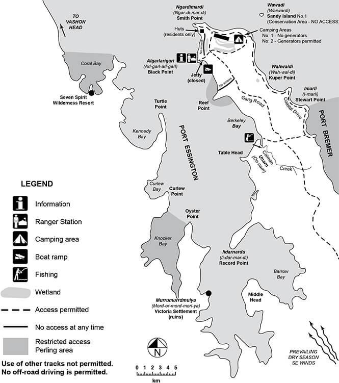 Garig Gunak Barlu National Park Snorkeling Map