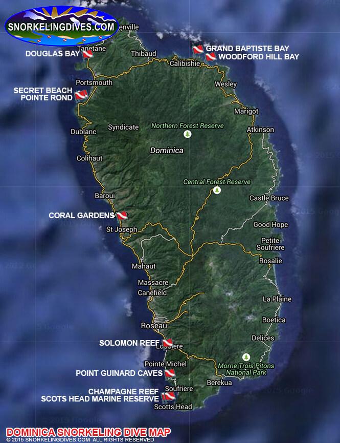 Solomon Reef Snorkeling Map