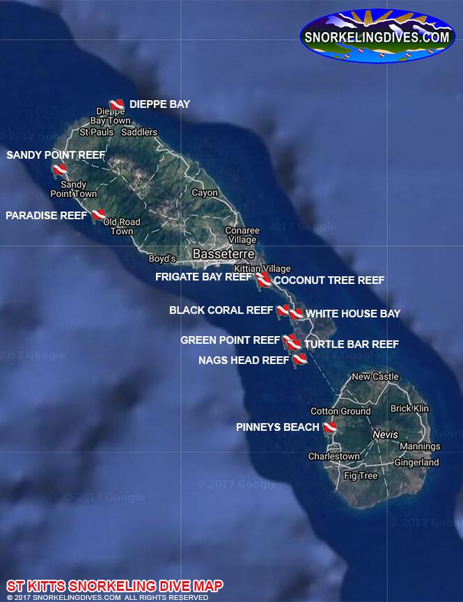 Black Coral Reef Snorkeling Map