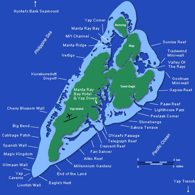 Mi'il Channel Snorkeling Map