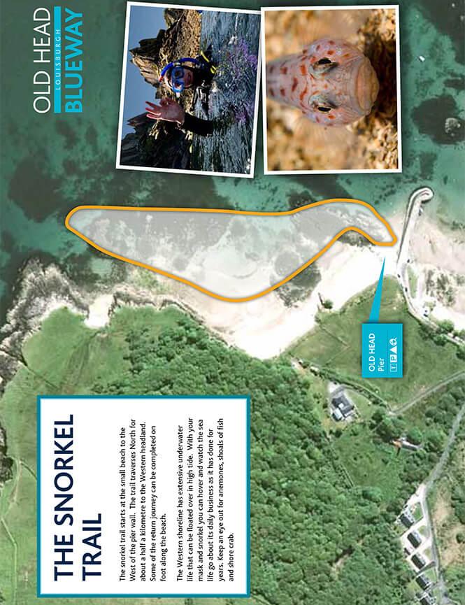 Old Head Blueway Snorkel Trail Snorkeling Map