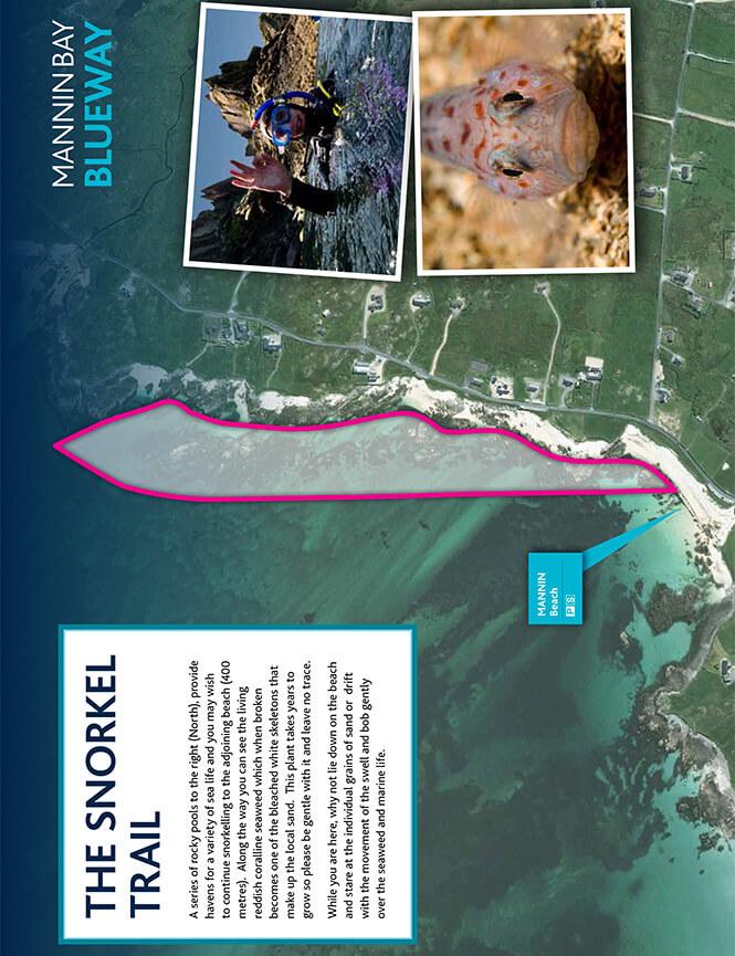 Mannin Bay Blueway Snorkel Trail Snorkeling Map