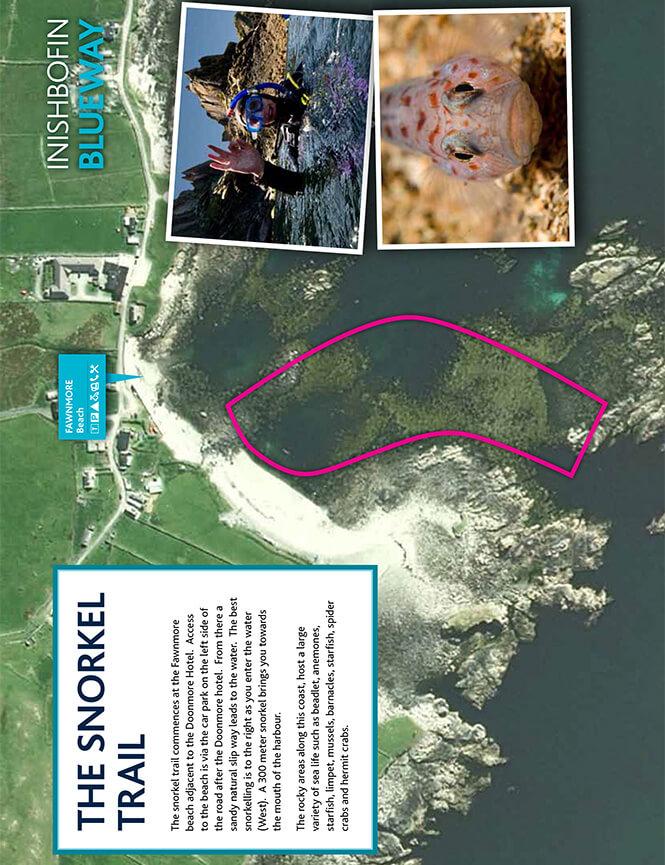 Inishbofin Blueway Snorkel Trail Snorkeling Map