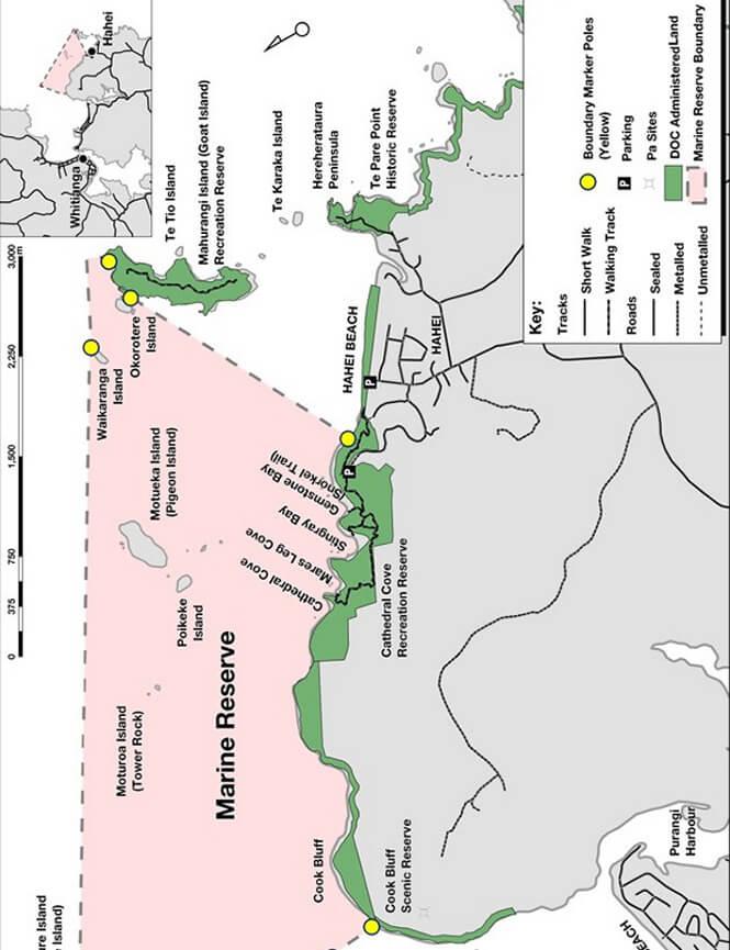 Te Whanganui-A-Hei Marine Reserve Snorkeling Map