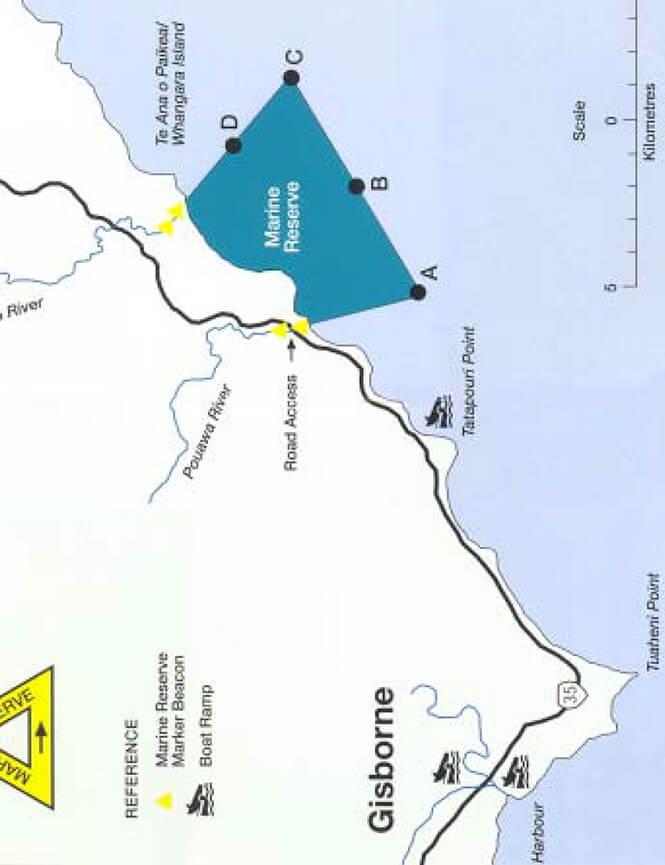 Te Tapuwae o Rongokako Snorkeling Map