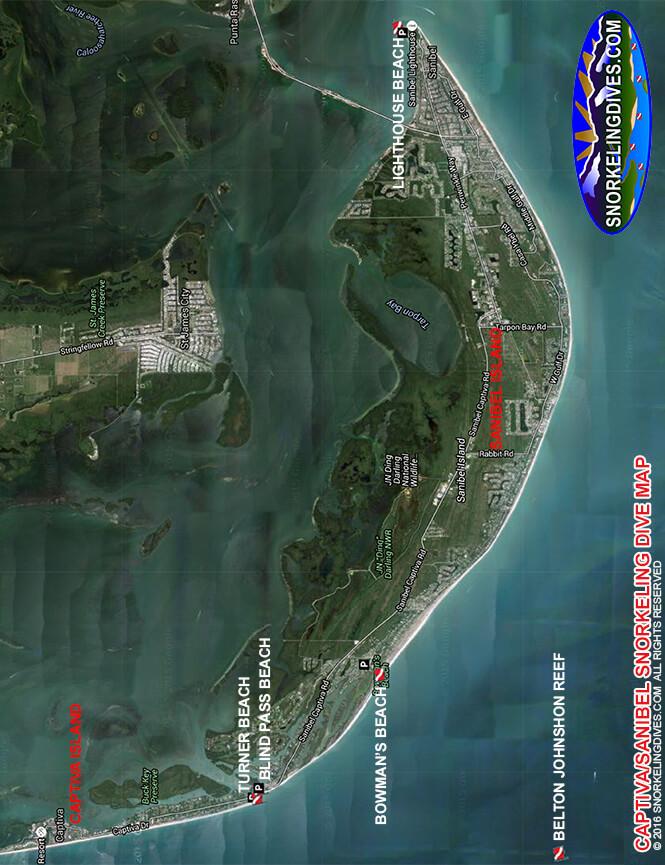 Captiva Island Snorkeling Map
