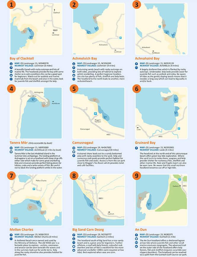 North West Highlands Snorkel Trail Snorkeling Map