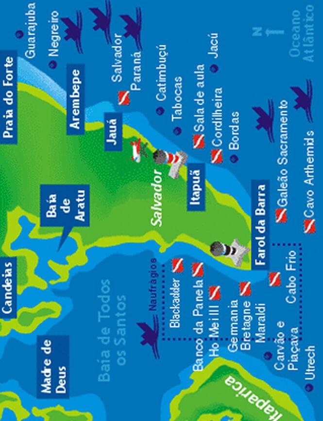 Salvador Snorkeling Map