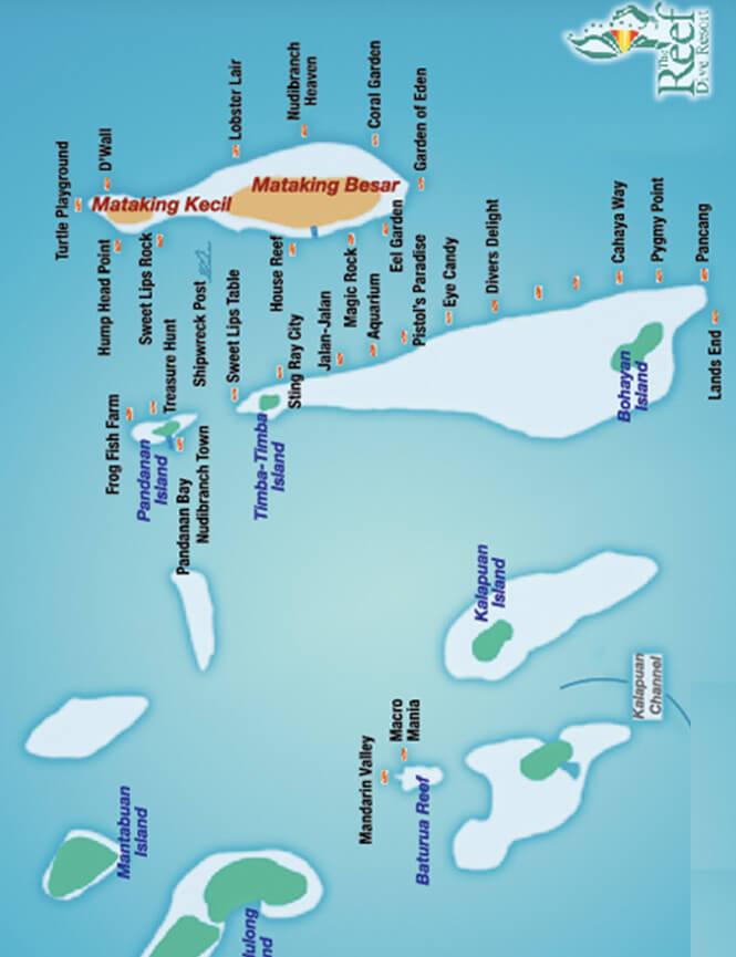 Pulau Matakin Snorkeling Map
