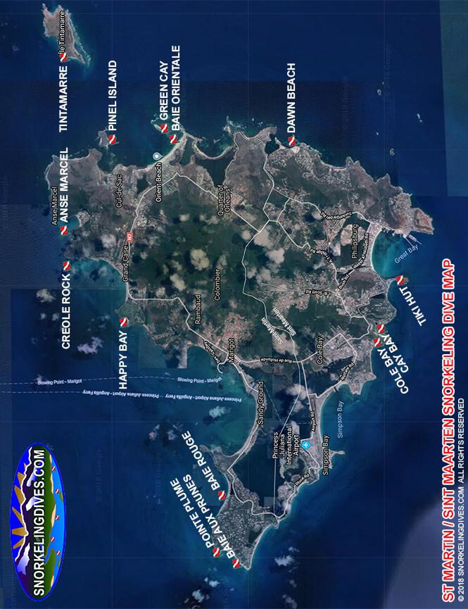 Baie Orientale Snorkeling Map