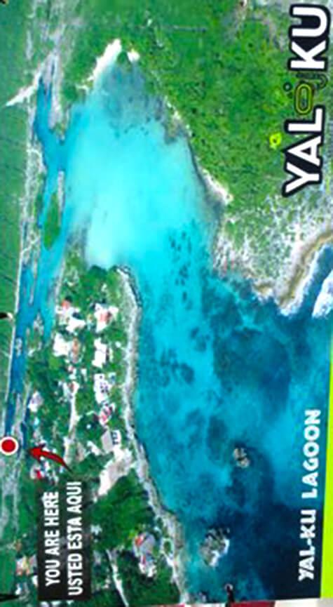 Yal Ku Lagoon Snorkeling Map