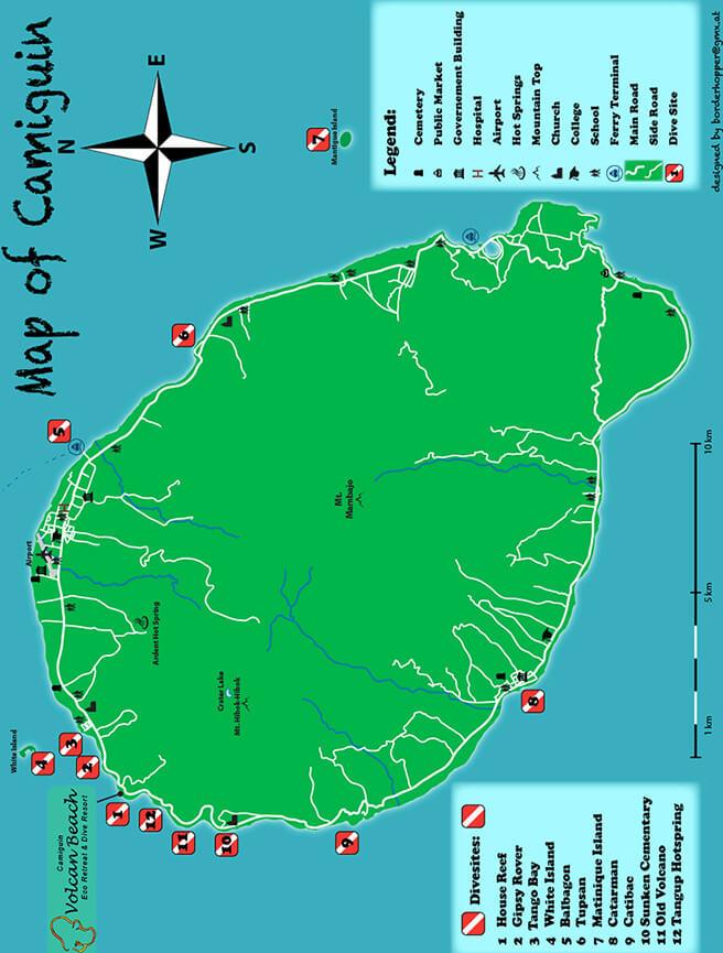 Camiguin Island Snorkeling Map