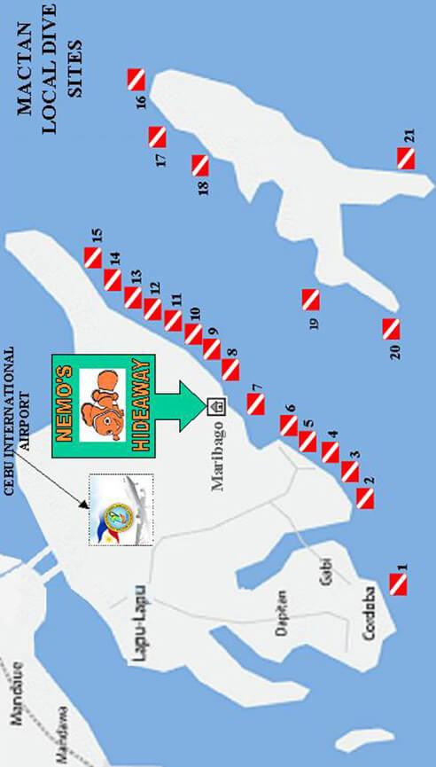 Mactan Island Snorkeling Map