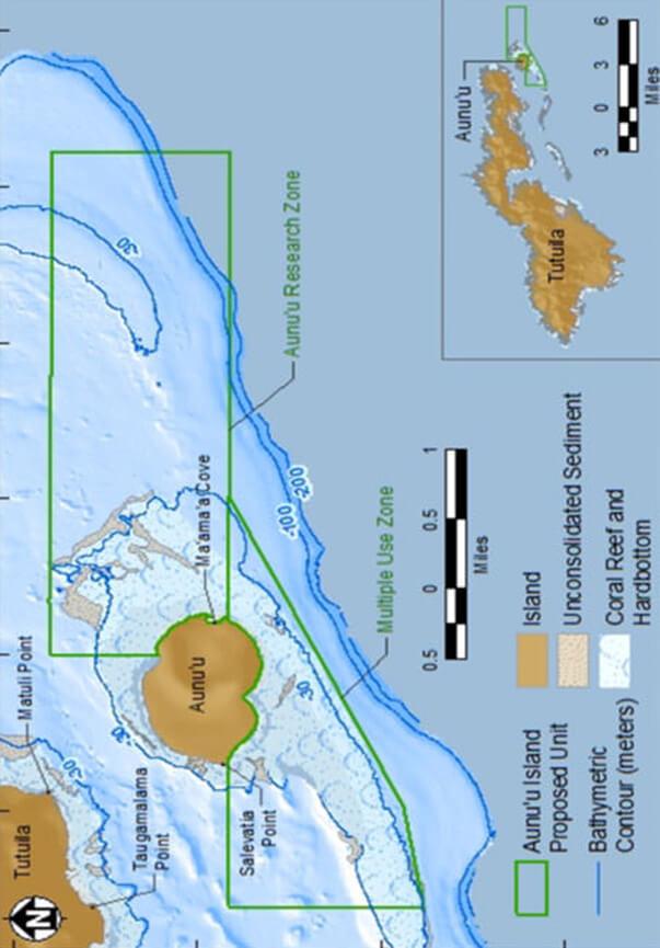 Aunu'u Island Snorkeling Map