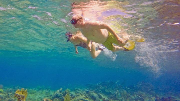 Snorkeling off West Caicos