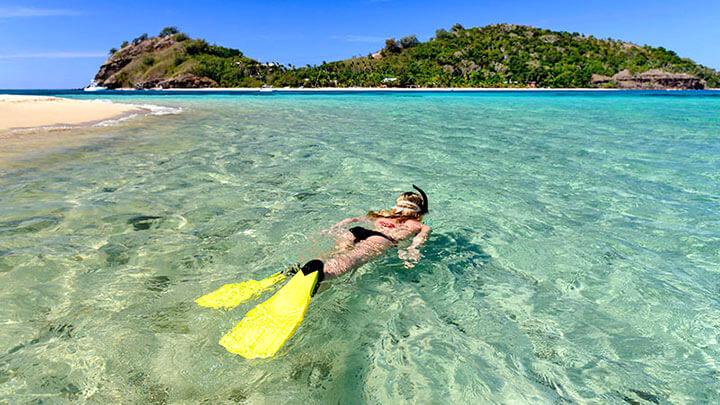 Snorkeling Mataray Island In Fiji